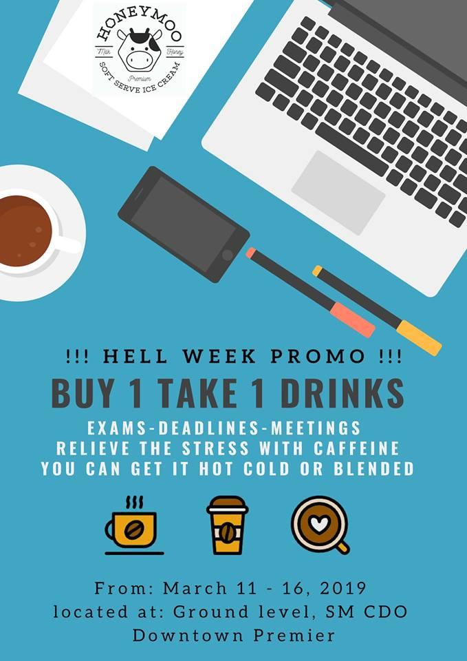 Honeymoo Buy 1 Take 1 Drinks Promo