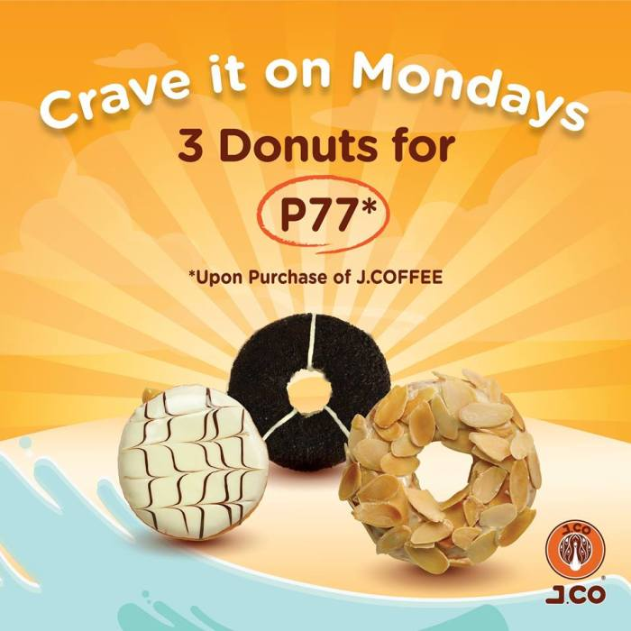 J.Co 3 Donuts for P77