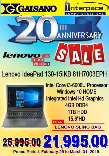 Lenovo Ideapad 130-15IKB P21995
