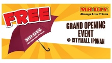 Mr DIY CityMall Iponan opening free umbrella FI