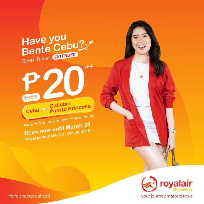 Royal Air Bente Cebu Promo