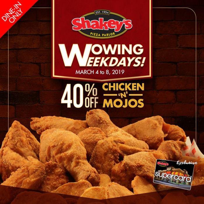 Shakey's Wowing Weekdays