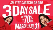 SM City Uptown CDO 3-Day Sale FI