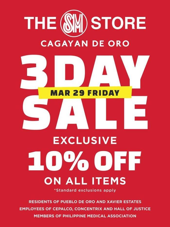 SM City Uptown CDO 3-Day Sale residents