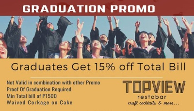 Topview Restobar at Newdawn hotel plus Graduation Promo FI