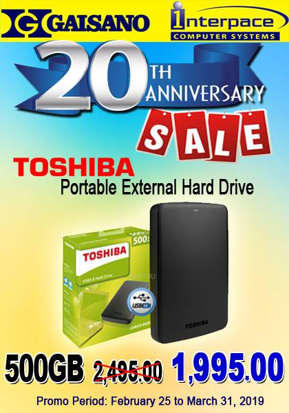 toshiba 500GB external hard drive