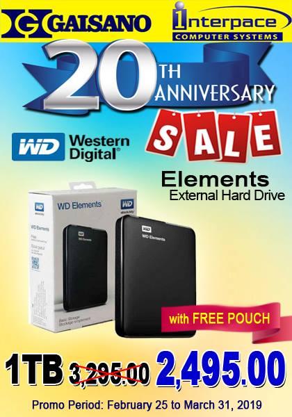 WD 1TB external hard drive P2495
