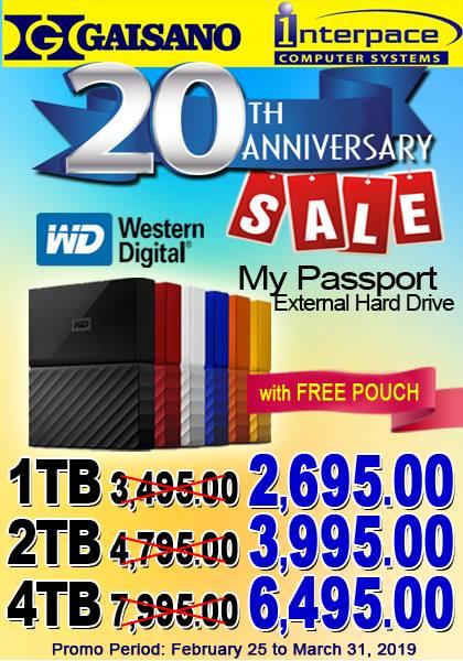 WD external hard drives