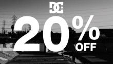 DC shoes 20percent off FI