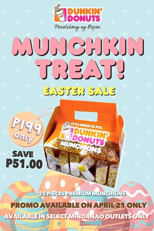 Dunkin Donuts Mindanao Munchkin Treat