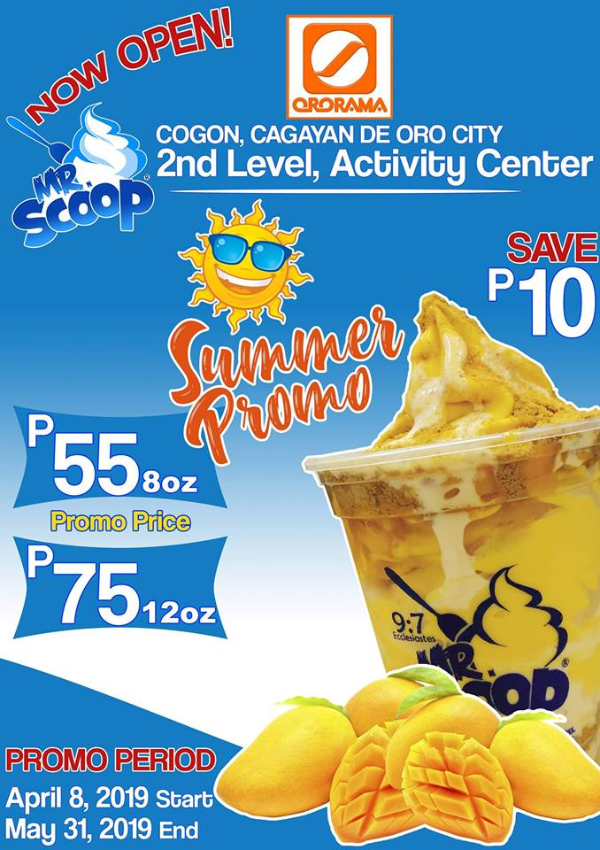 Mr Scoop Ice Cream Summer Promo