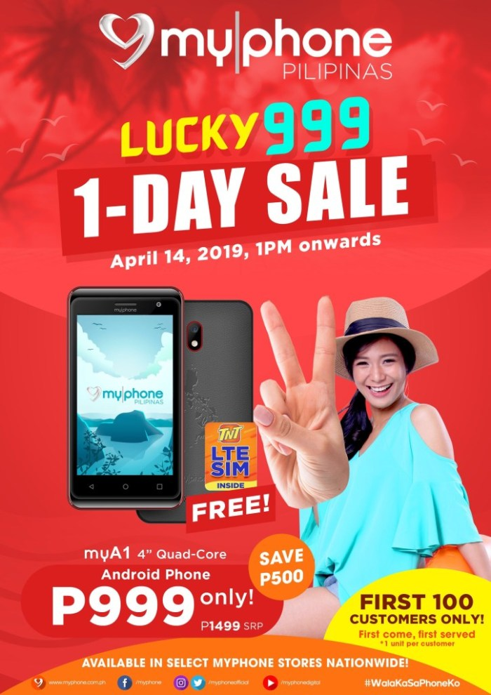 MyPhone Lucky999 1-DAY SALE detailed
