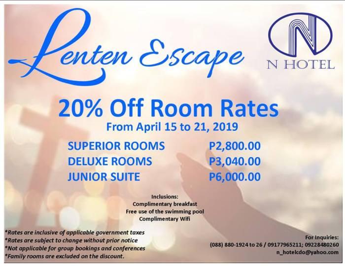 N Hotel Lenten Escape
