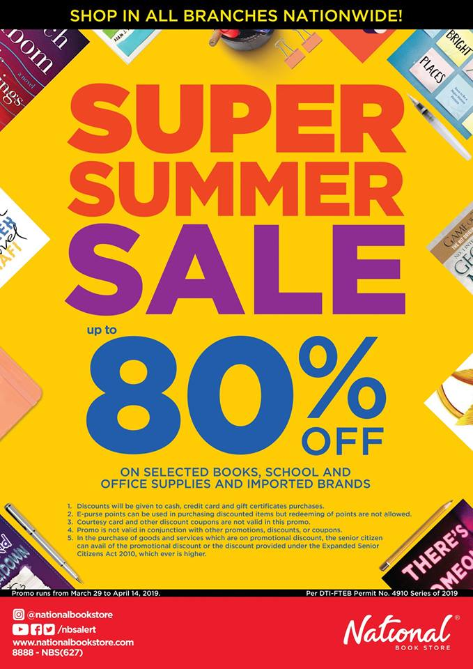 National Book Store Super Summer Sale