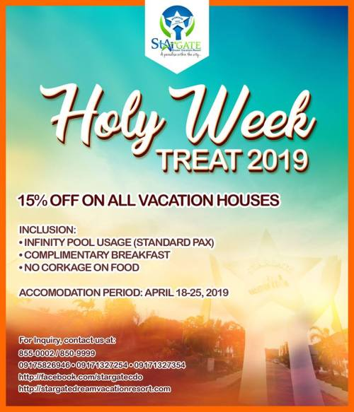 Stargate Dream Vacation Resort Holy Week Treat 2019