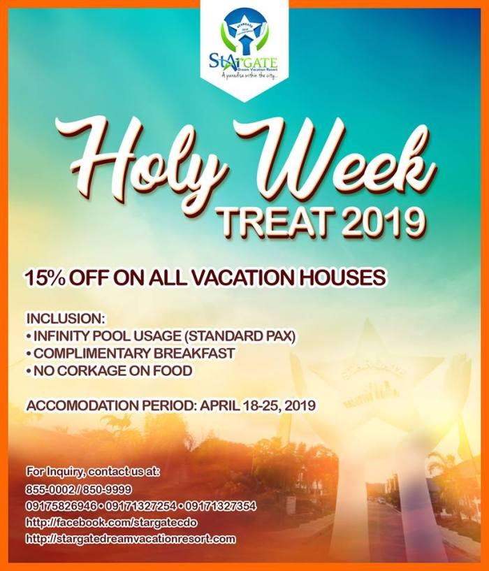 Stargate Dream Vacation Resort Holy Week Treat 2019