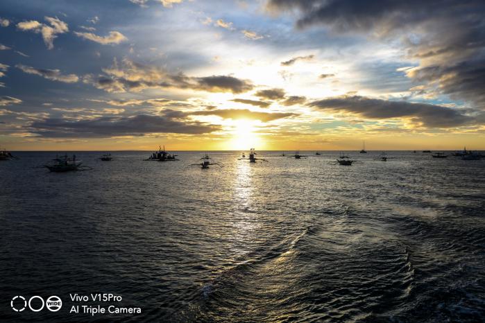 Vivo V15Pro sunset and beach