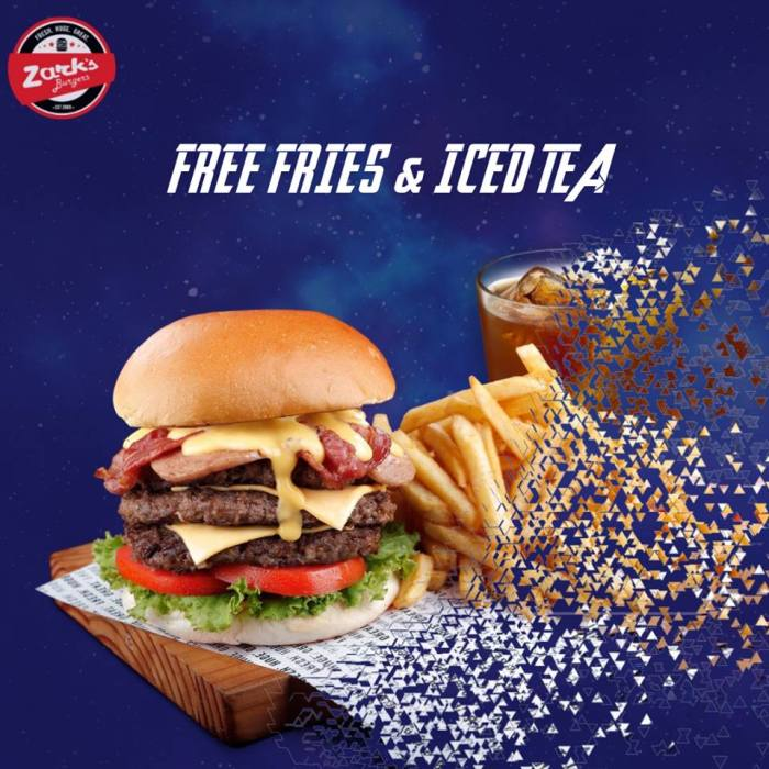Zark's Burgers FREE Fries and Iced Tea Avengers End Game Promo