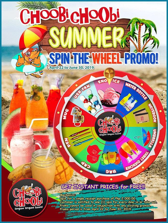 Choobi Choobi Spin the Wheel Promo