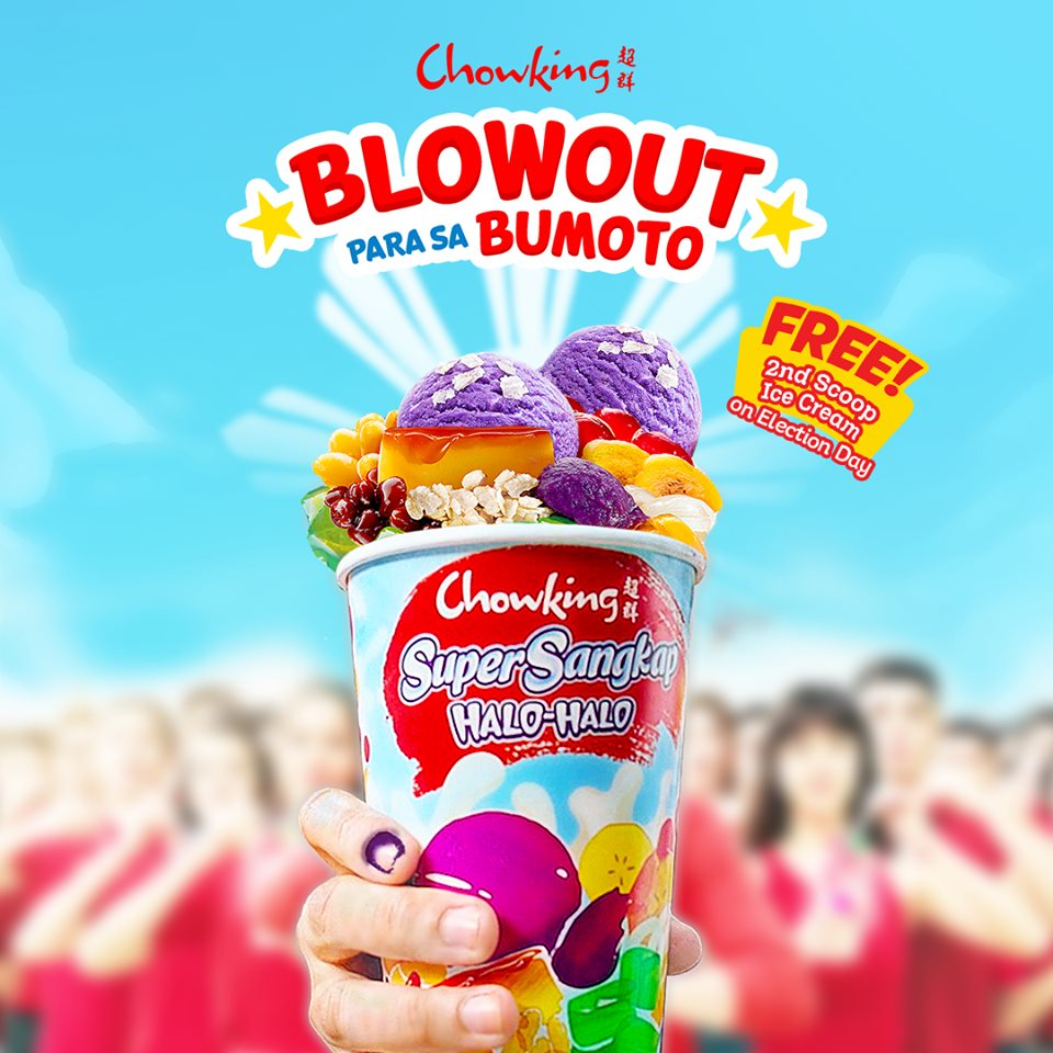 Chowking Election Day Blowout