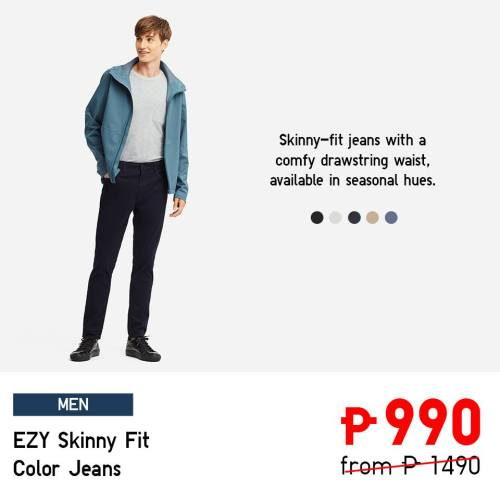 uniqlo ezy skinny fit color jeans
