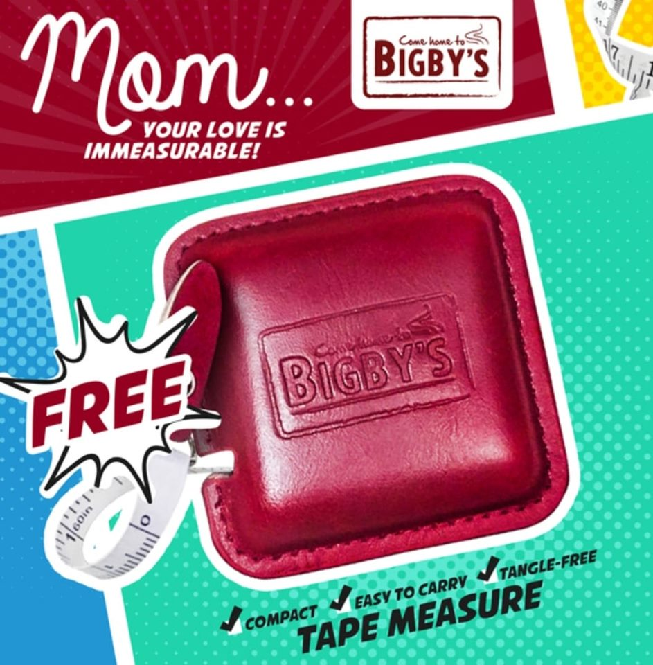 FREE Bigbys Retractable Tape Measure Mothers Day Treat sq
