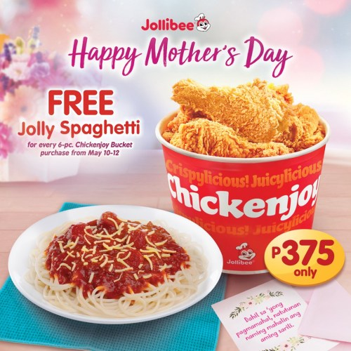 Jollibee FREE Jolly Spaghetti Mothers Day 2019 Promo