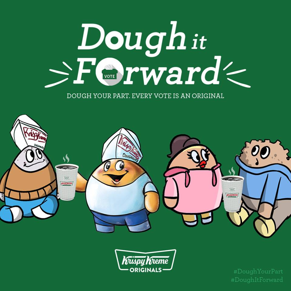 Krispy Kreme Dough it Forward Election Day Promo