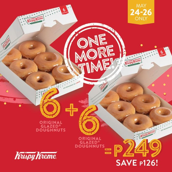 Krispy Kreme One More Time Dozen Original Glazed Doughnuts for P249