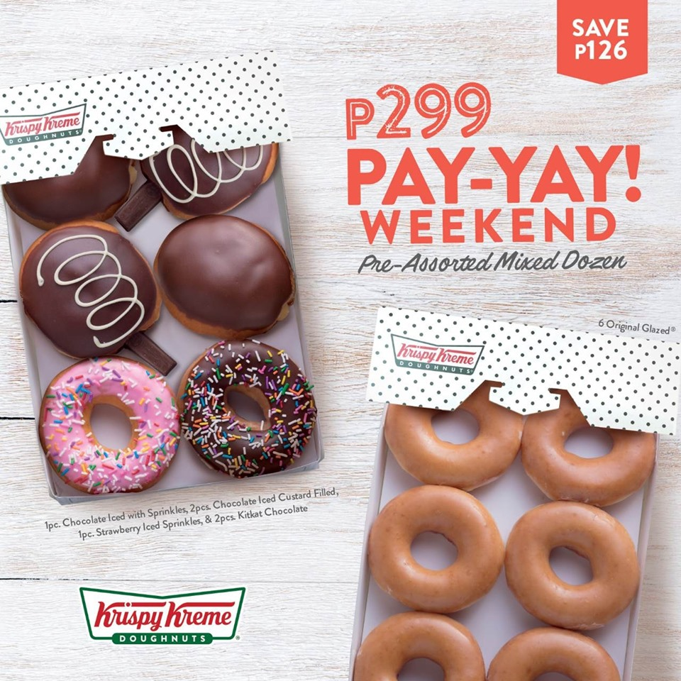 Krispy Kreme P299 Pay-Yay Weekend