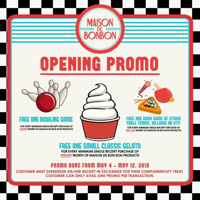 Maison de Bon Bon SM Downtown Premier Opening Promo