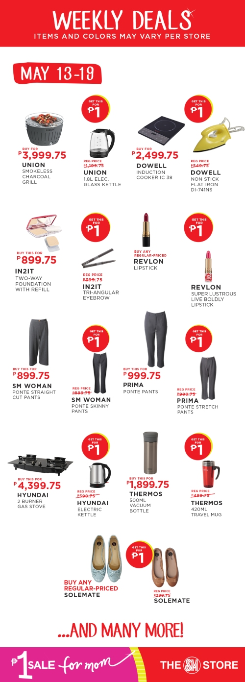 The SM Store P1 Sale for Mom may 13-19