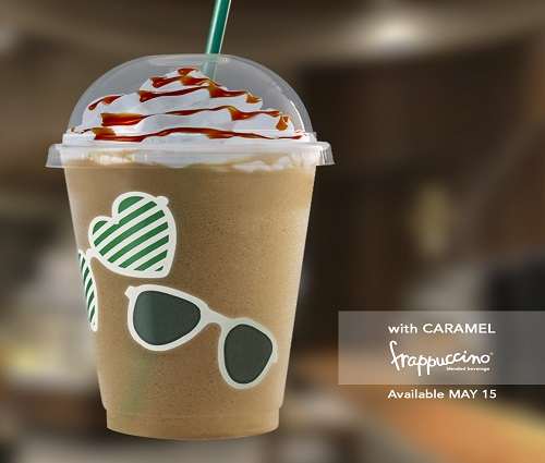 Starbucks Grande Wednesday May 15 Shades and Caramel Frappuccino