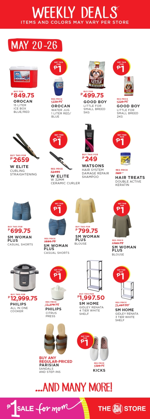 The SM Store P1 Sale for Mom may 20-26