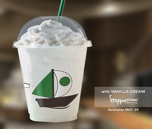 Starbucks Grande Wednesday May 29 Boat and Vanilla Cream Frappuccino