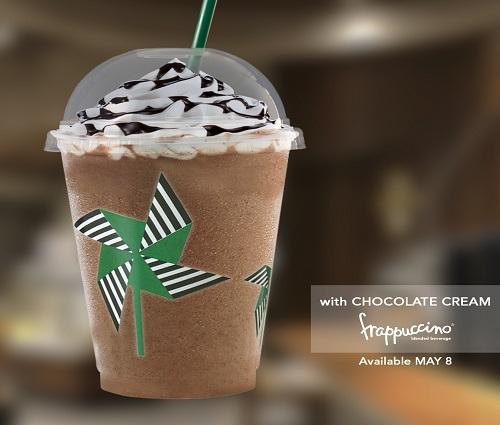 Starbucks Grande Wednesday May 8 Pinwheel and Chocolate Cream Frappuccino