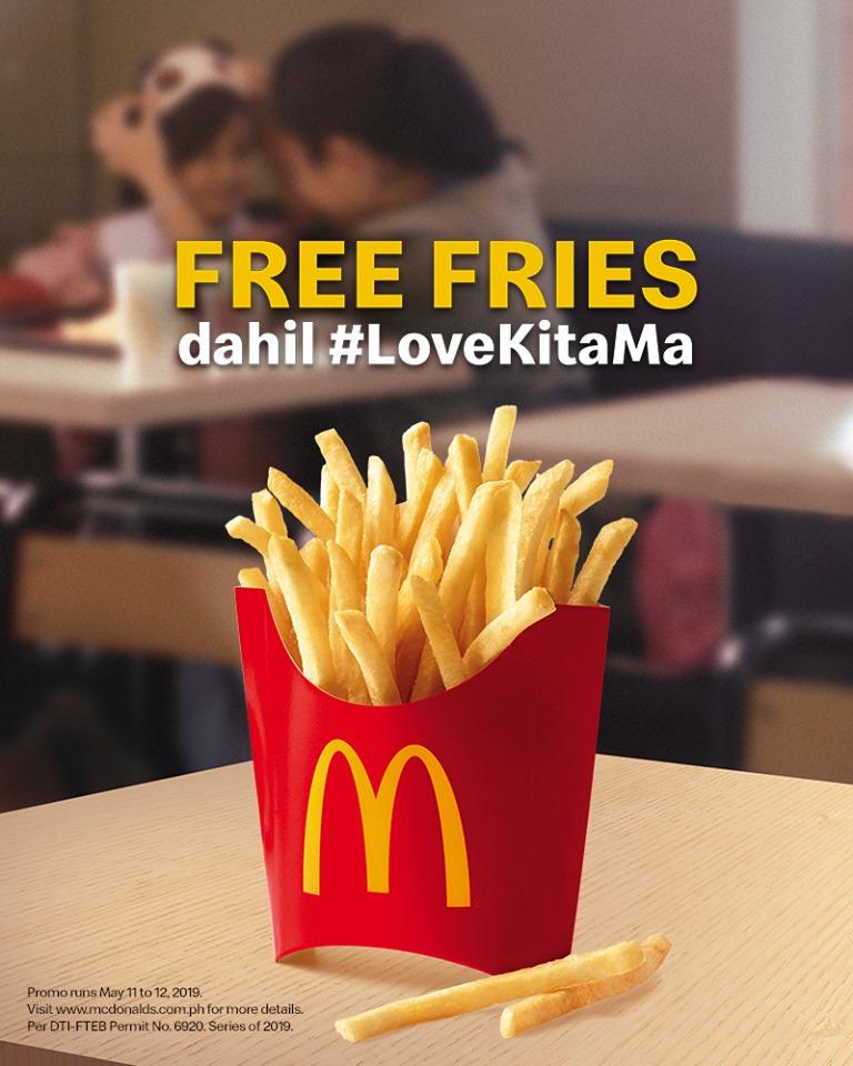 McDonalds FREE Fries LoveKitaMa Mothers Day Promo FB