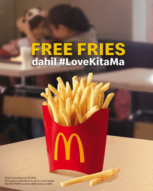 McDonalds FREE Fries LoveKitaMa Mothers Day Promo FB
