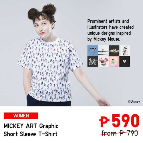 uniqlo mickey art ggraphic short sleeve