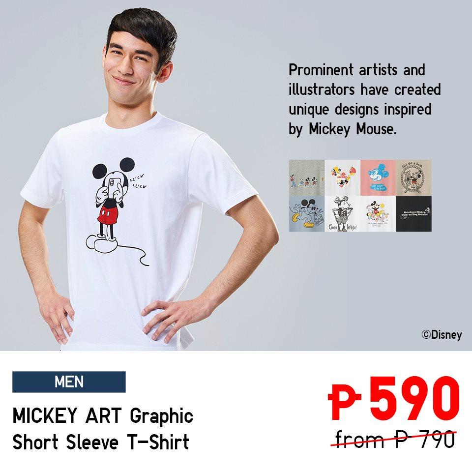 mickey art graphic short sleeve