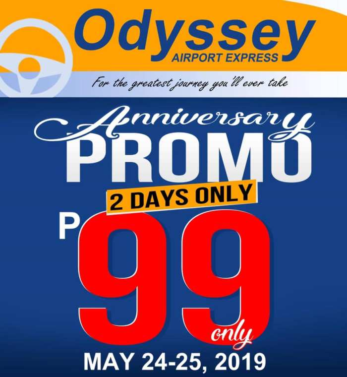 Odyssey Airport Express Anniversary Promo