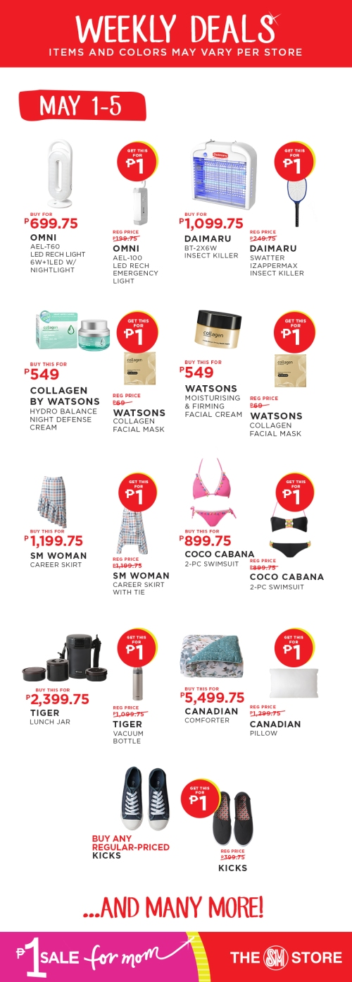 The SM Store P1 Sale for Mom piso sale deals