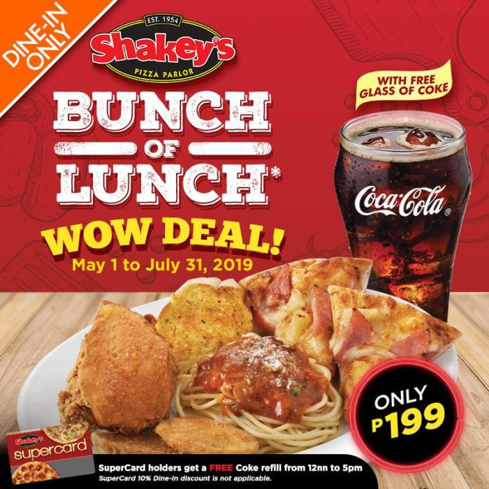 Shakeys Bunch of Lunch Wow Deal