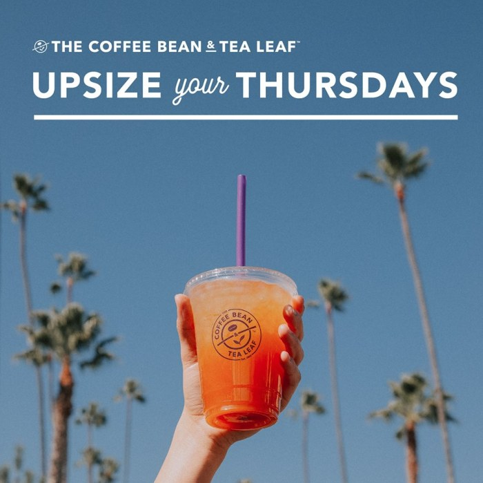 The Coffee Bean & Tea Leaf Upsize Your Thursdays