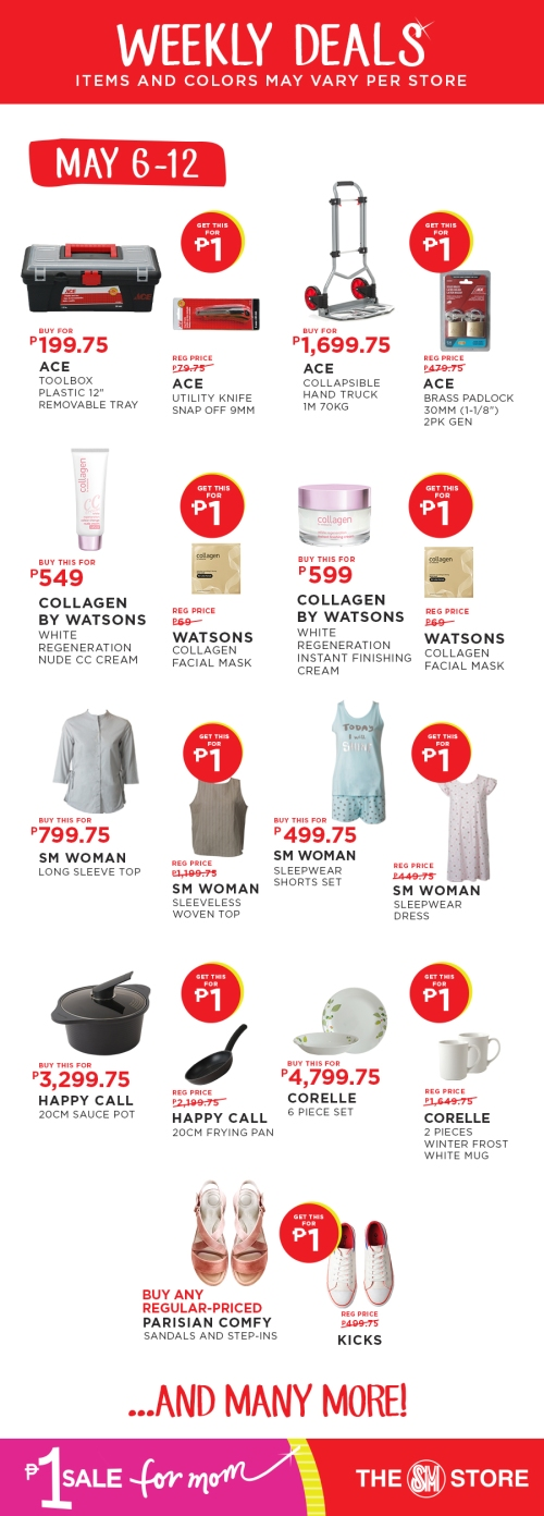 The SM Store P1 Sale for Mom may6-12