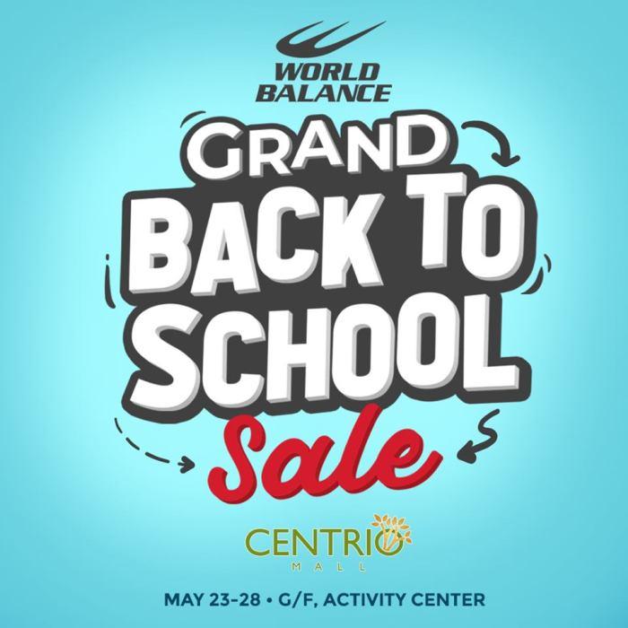 World Balance Centrio Grand Back To School Sale