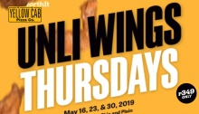yellow Cab Unliwings THursdays FI