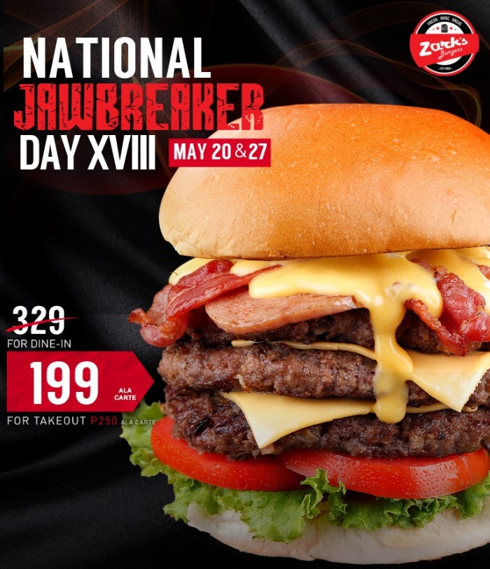 Zark's burgers national jawbreake day sq