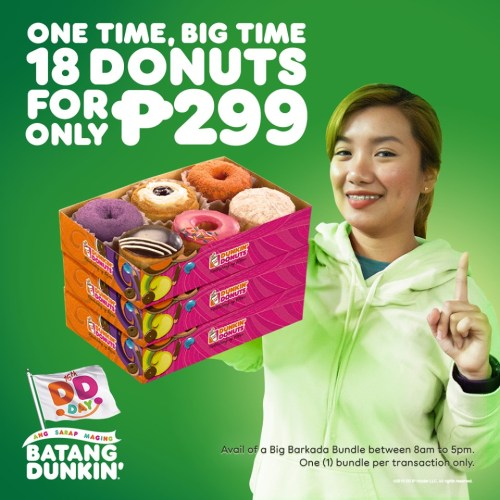 18 donuts for P299
