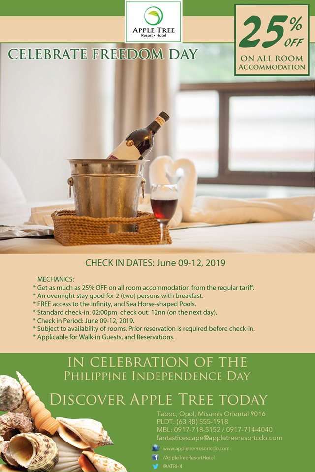 Apple Tree Resort and Hotel Independence Day Promo